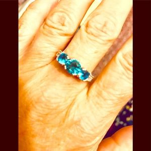 Gorgeous Triple Gem Turquoise Ring